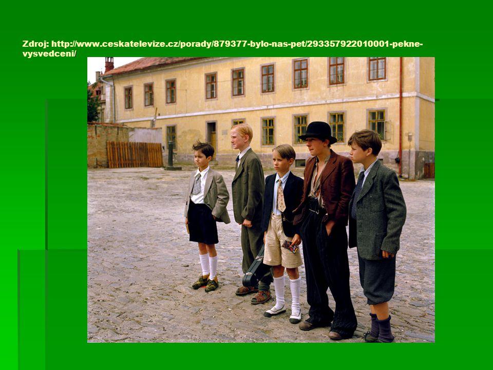 / Zdroj: http://www.ceskatelevize.cz/porady/879377-bylo-nas-pet/293357922010001-pekne- vysvedceni/