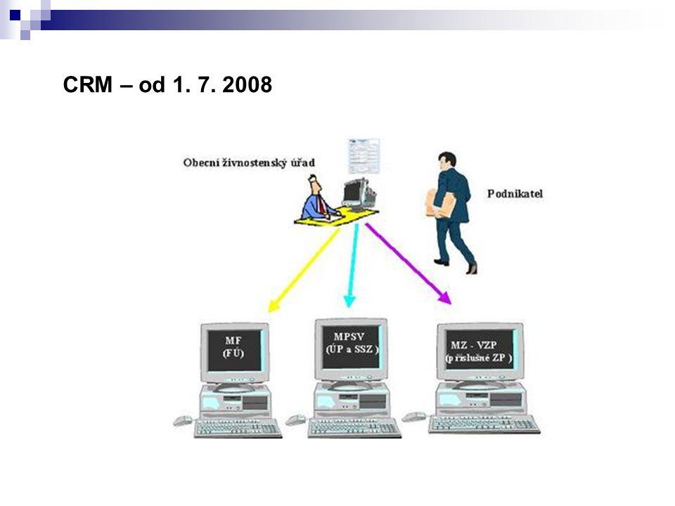CRM – od 1. 7. 2008