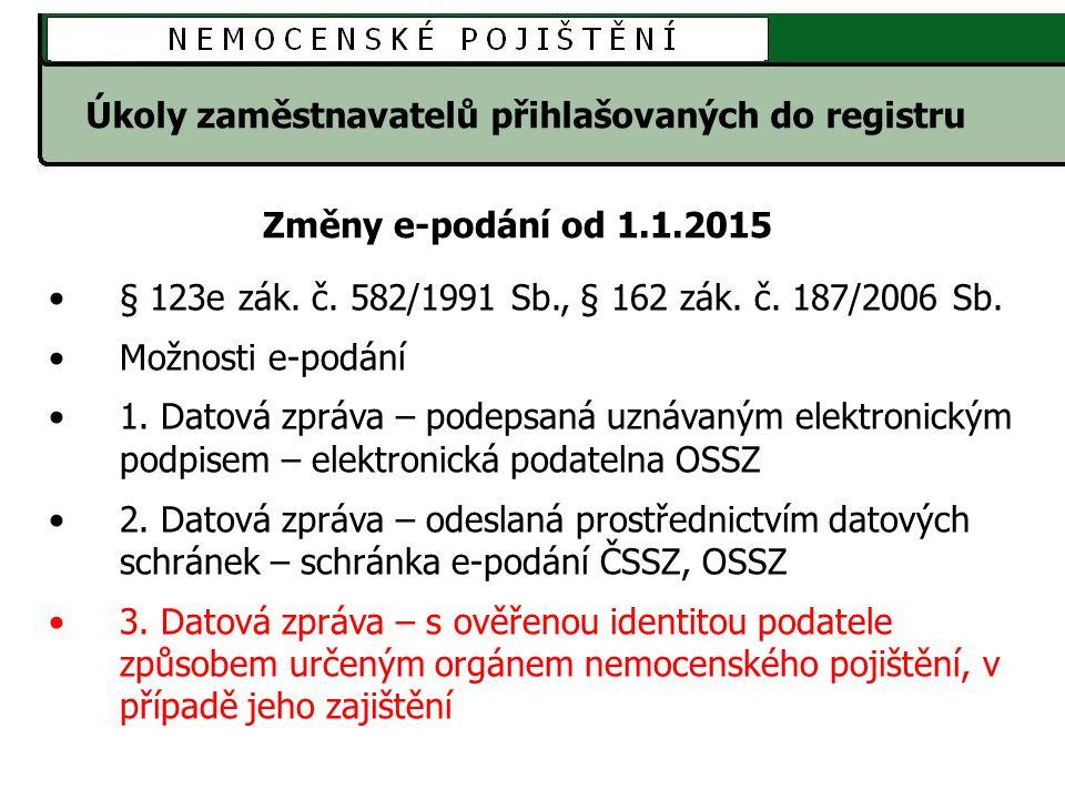 Úkoly zaměstnavatelů přihlašovaných do registru § 123e zák.