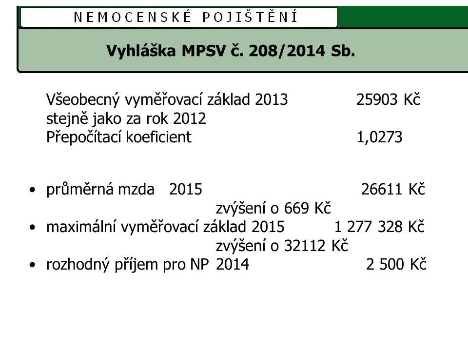 Sdělení MPSV č.214/2014 Sb.