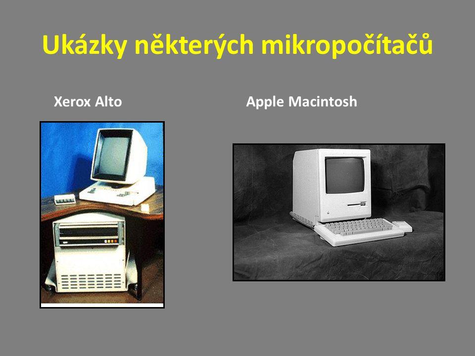 Ukázky některých mikropočítačů Xerox AltoApple Macintosh