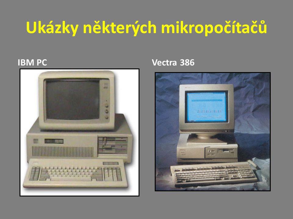Ukázky některých mikropočítačů IBM PCVectra 386