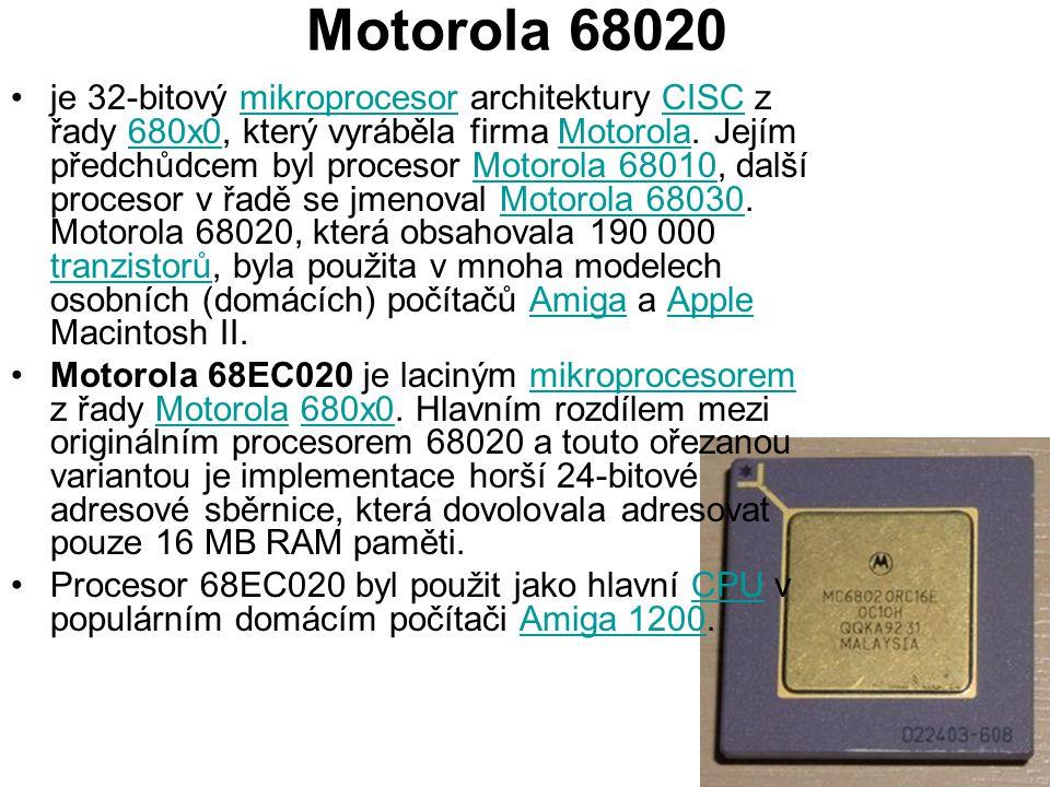 Motorola 68020 je 32-bitový mikroprocesor architektury CISC z řady 680x0, který vyráběla firma Motorola. Jejím předchůdcem byl procesor Motorola 68010