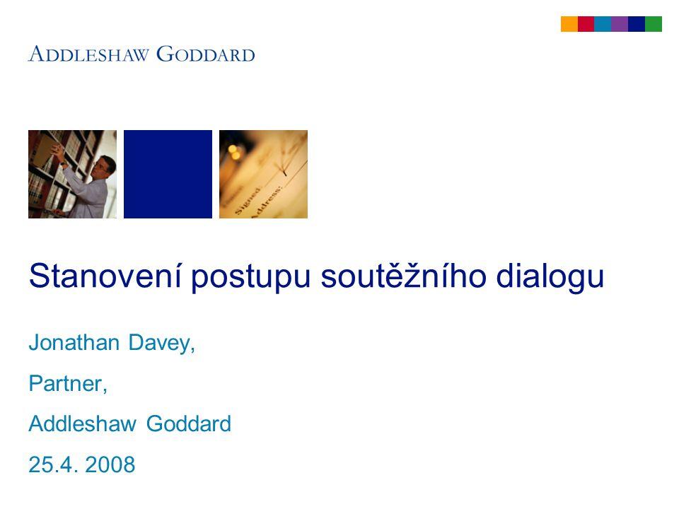 Struktura této části Úvod a definice Formální požadavky Flowchart a časový plán Několik myšlenek týkajících se vedení soutěžního dialogu