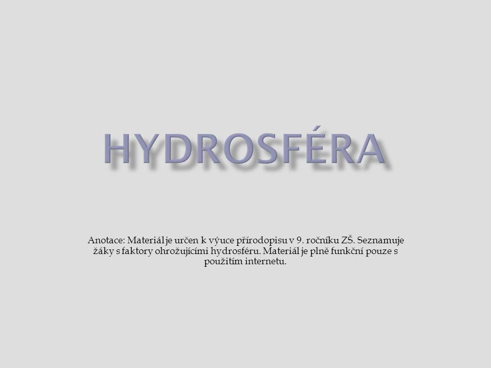  skupenství  koloběh vody  srážky  patogenní  eutrofizace