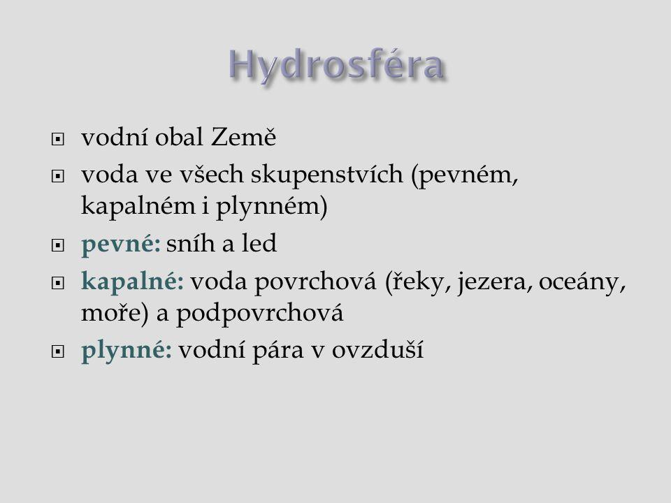 Znečištění vody  patogenní organismy (viry, bakterie, paraziti...)  eutrofizace vod – znečištění živinami → nárůst řas a sinic → klesá obsah kyslíku  toxické látky – např.