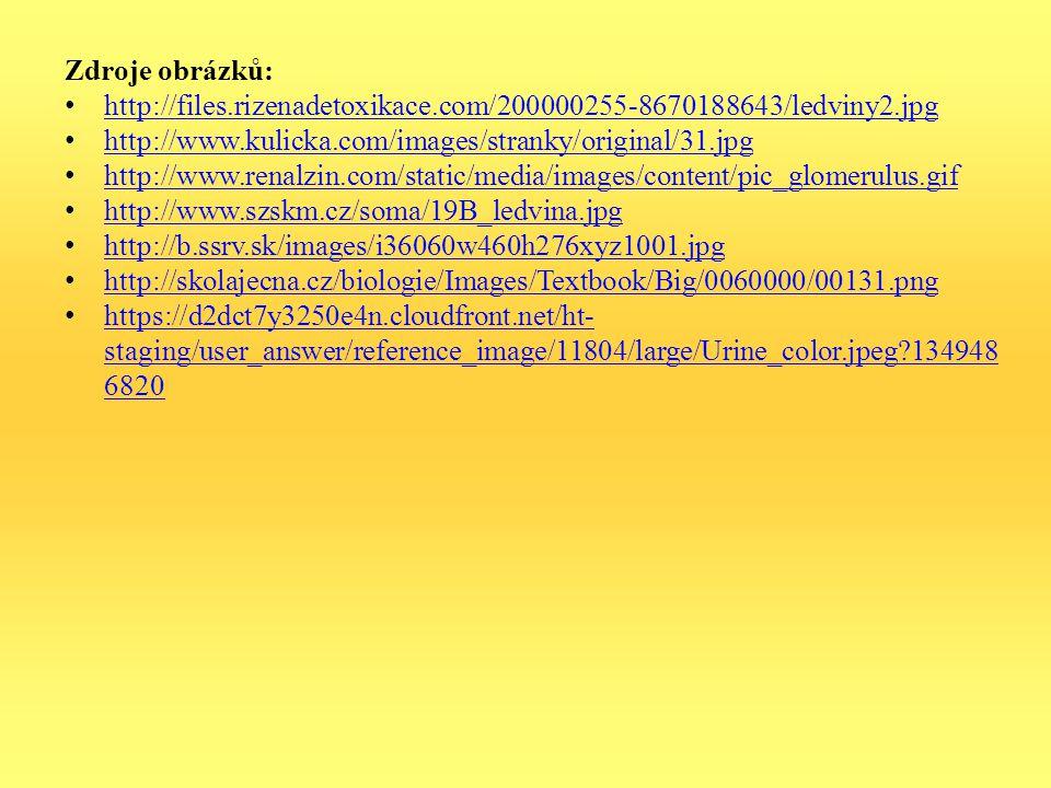 Zdroje obrázků: http://files.rizenadetoxikace.com/200000255-8670188643/ledviny2.jpg http://www.kulicka.com/images/stranky/original/31.jpg http://www.r