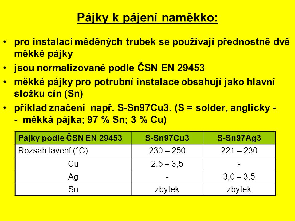 PÁJECÍ PŘÍSTROJE (SOUPRAVY): PRO PÁJENÍ NAMĚKKO PLAMENEM: tlaková láhev s LPG hadice redukční ventil hořák (LPG + vzduch)