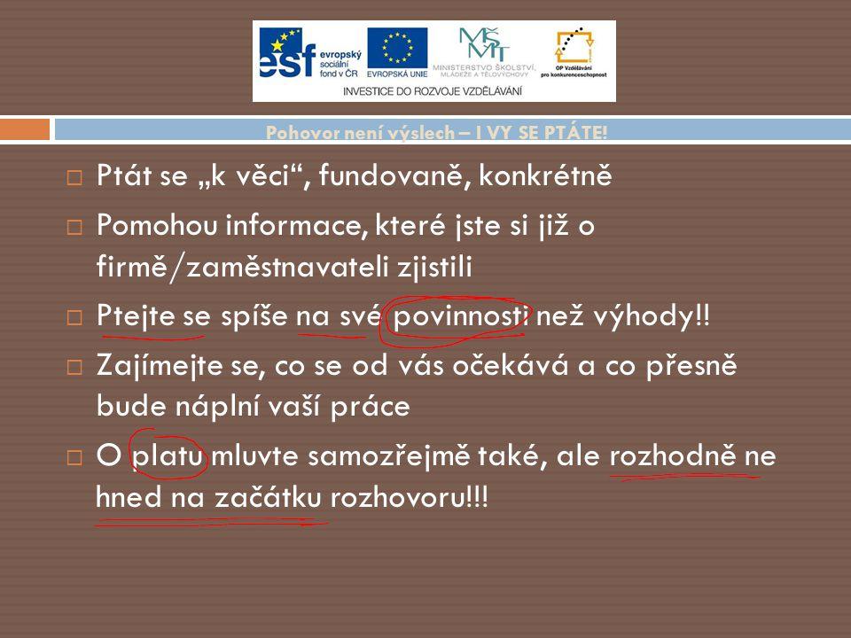 Úřad práce Jak se zaevidovat.Práva a povinnosti uchazeče o zaměstnání.