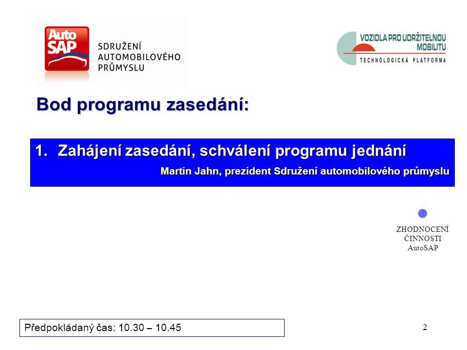 42 Bod programu zasedání: Předpokládaný čas: 13.40 – 13.55 12.