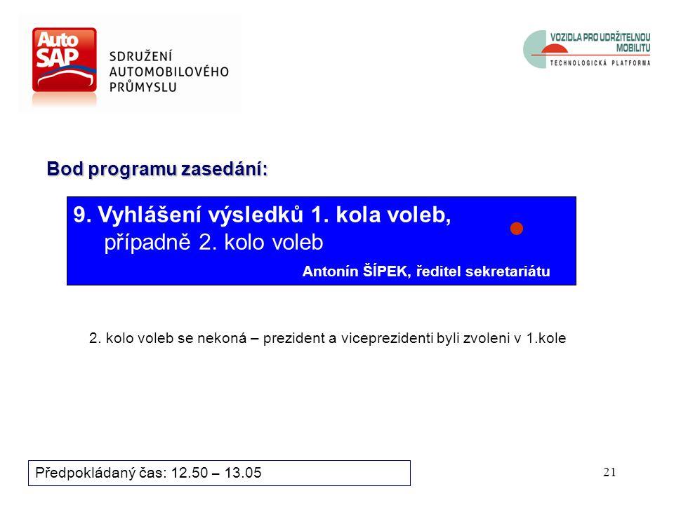 20 Bod programu zasedání: Předpokládaný čas: 12.35 – 12.50 8.