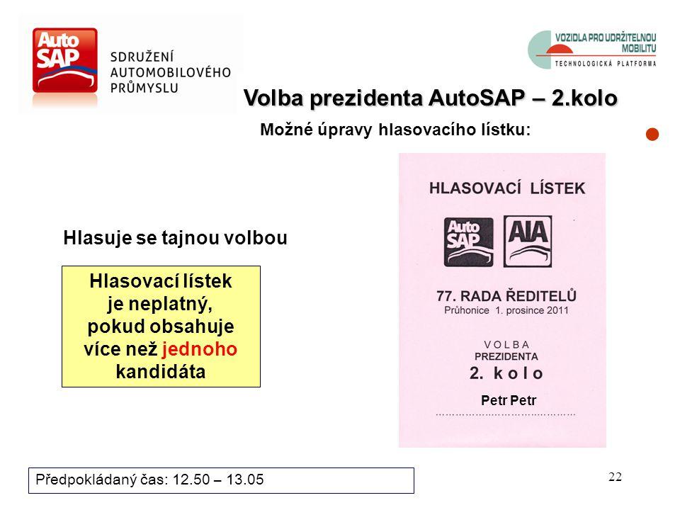 21 Bod programu zasedání: Předpokládaný čas: 12.50 – 13.05 9. Vyhlášení výsledků 1. kola voleb, případně 2. kolo voleb Antonín ŠÍPEK, ředitel sekretar