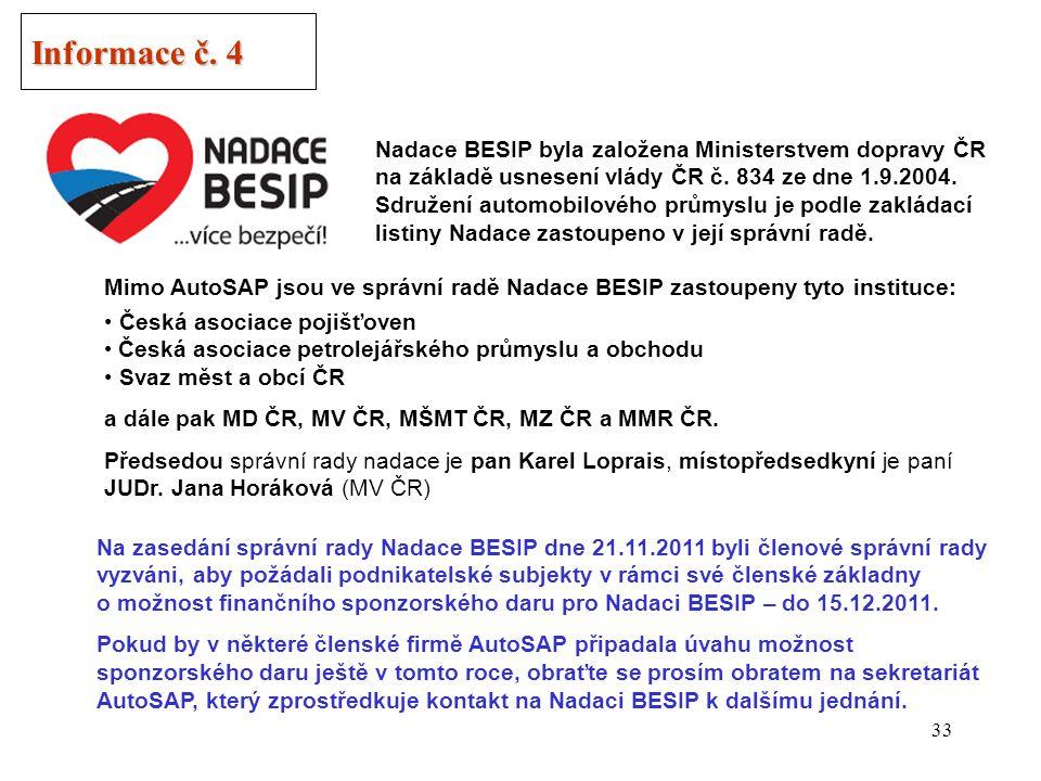 32 Informace č. 3 Obnova vozového parku v ČR MPO ČR předložilo v říjnu t.r.