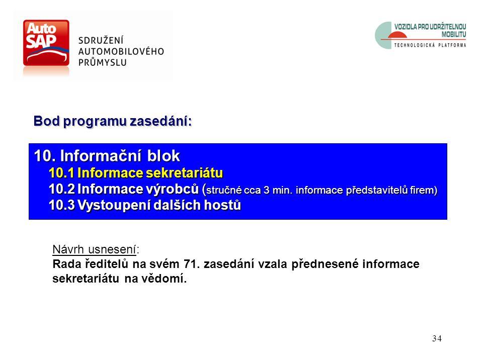33 Informace č. 4 Nadace BESIP byla založena Ministerstvem dopravy ČR na základě usnesení vlády ČR č. 834 ze dne 1.9.2004. Sdružení automobilového prů