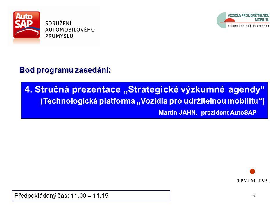 9 Bod programu zasedání: Předpokládaný čas: 11.00 – 11.15 4.