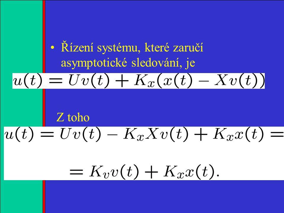 1.2.3.4. Řízení systému, které zaručí asymptotické sledování, je Z toho