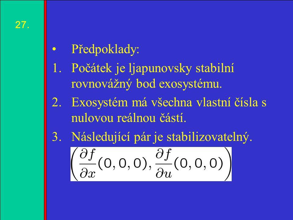 1.2.3.4. Předpoklady: 1.Počátek je ljapunovsky stabilní rovnovážný bod exosystému.
