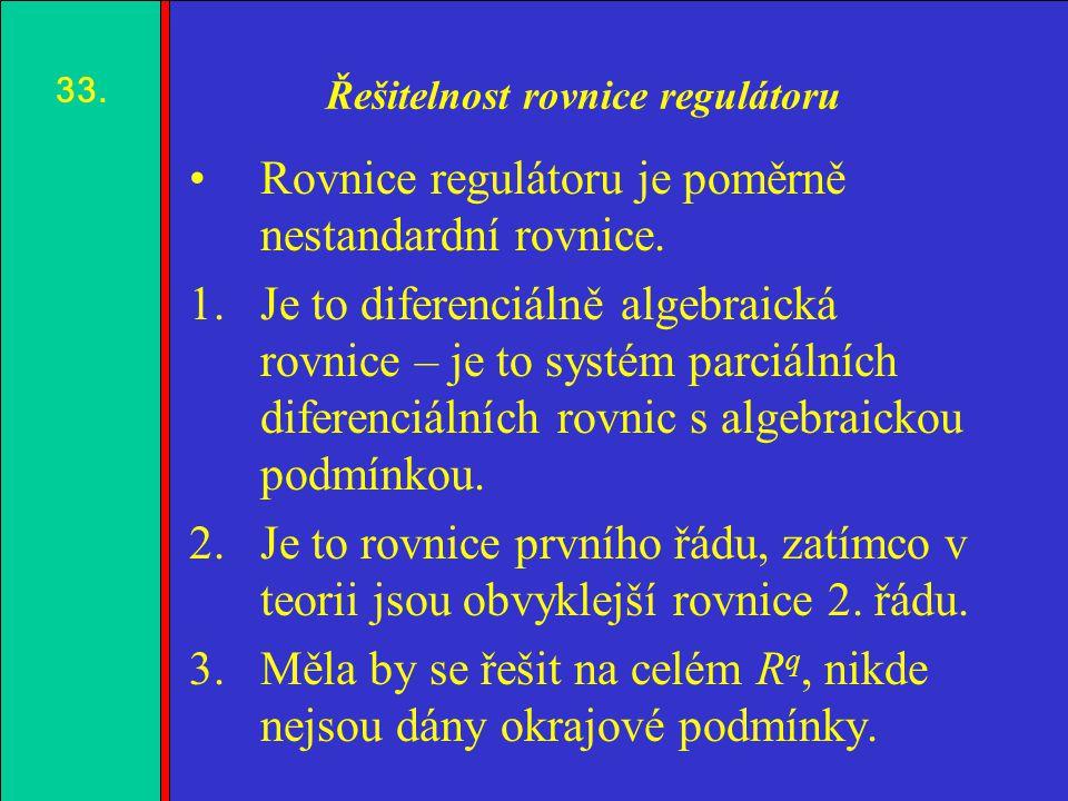 1.2.3.4. Řešitelnost rovnice regulátoru Rovnice regulátoru je poměrně nestandardní rovnice.