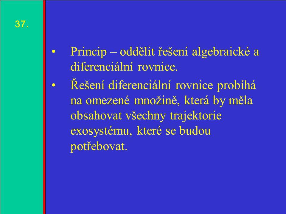1.2.3.4. Princip – oddělit řešení algebraické a diferenciální rovnice.