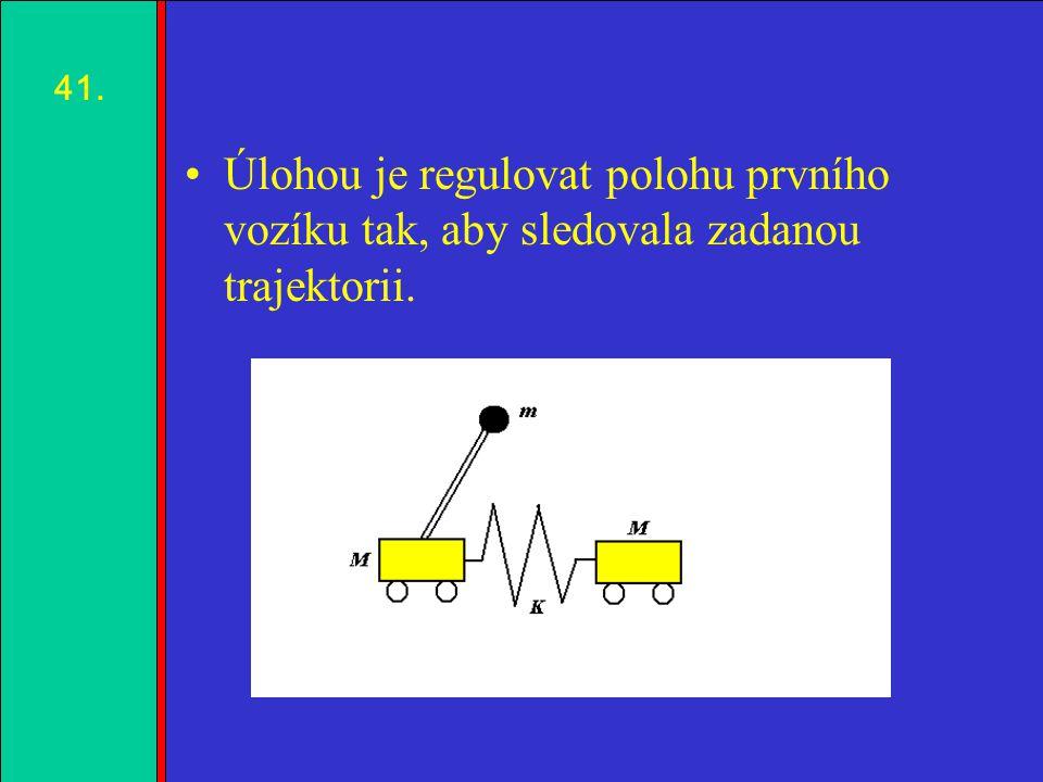 1.2.3.4. Úlohou je regulovat polohu prvního vozíku tak, aby sledovala zadanou trajektorii. 41.