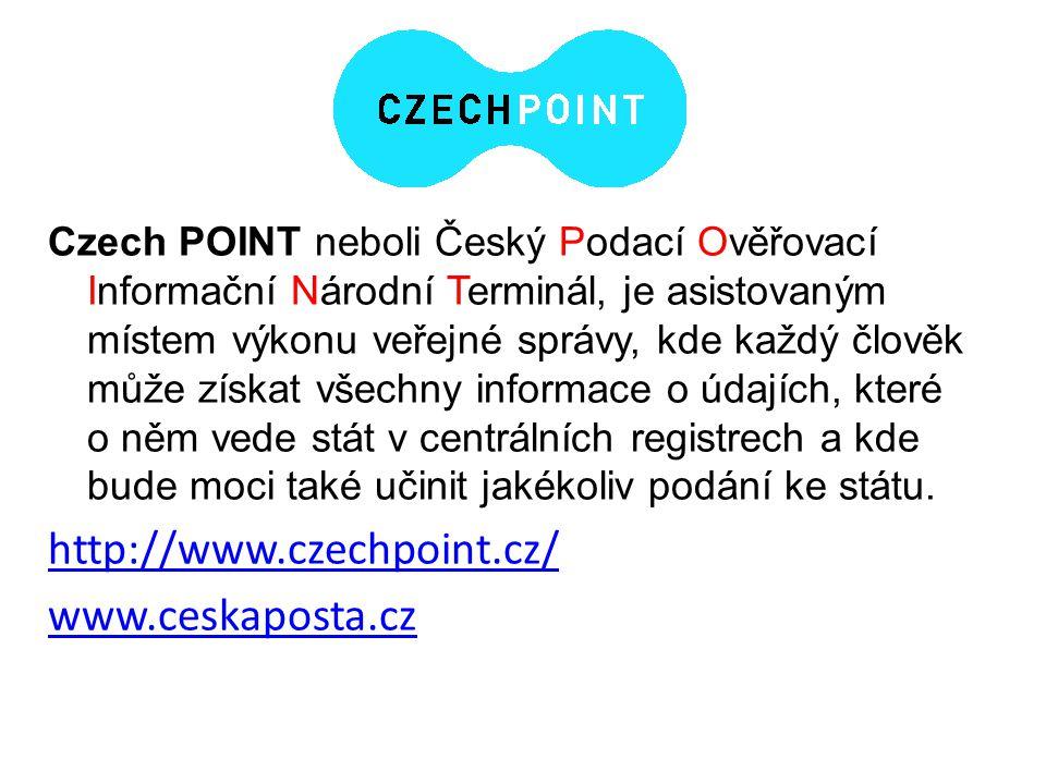 Czech POINT neboli Český Podací Ověřovací Informační Národní Terminál, je asistovaným místem výkonu veřejné správy, kde každý člověk může získat všech