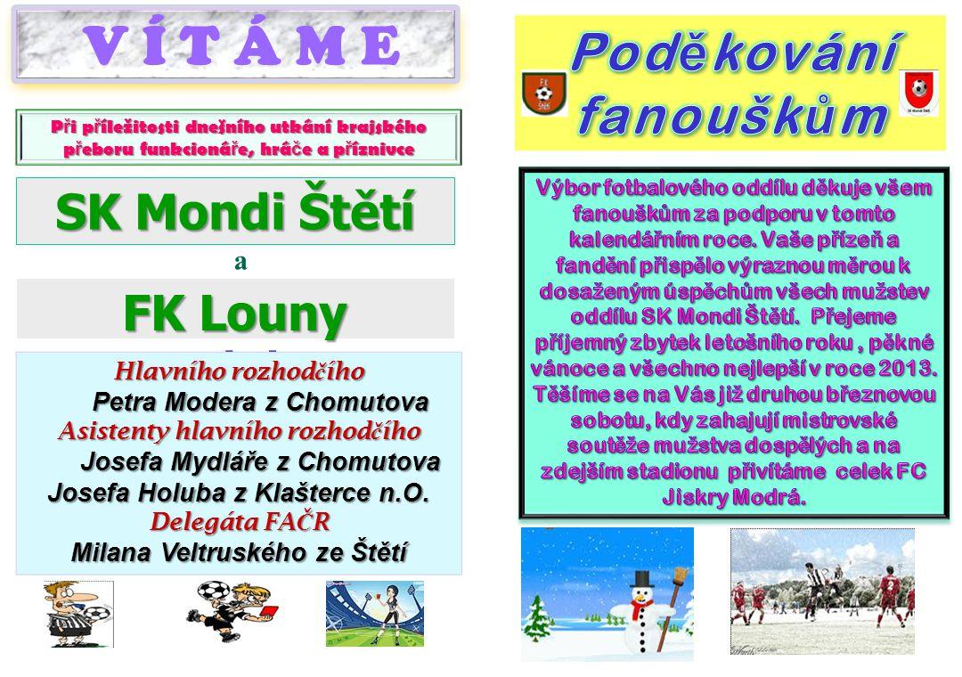 Starší dorost v posledních 2 zápasech prohrál a klesl ale i tak na hezké 8.místo SK Mondi Štětí – FK Tatran Kadaň 1:3 (1:1) 10.11.2012 12.kolo Důležitý zápas proti mužstvu, které bylo tabulce v bezprostředním sousedství našeho.