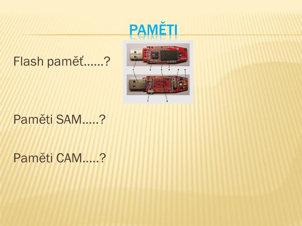 Flash paměť……? Paměti SAM…..? Paměti CAM…..?