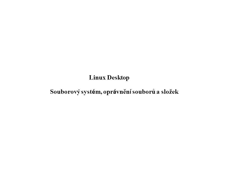 Linux Desktop Souborový syst é m, opr á vněn í souborů a složek