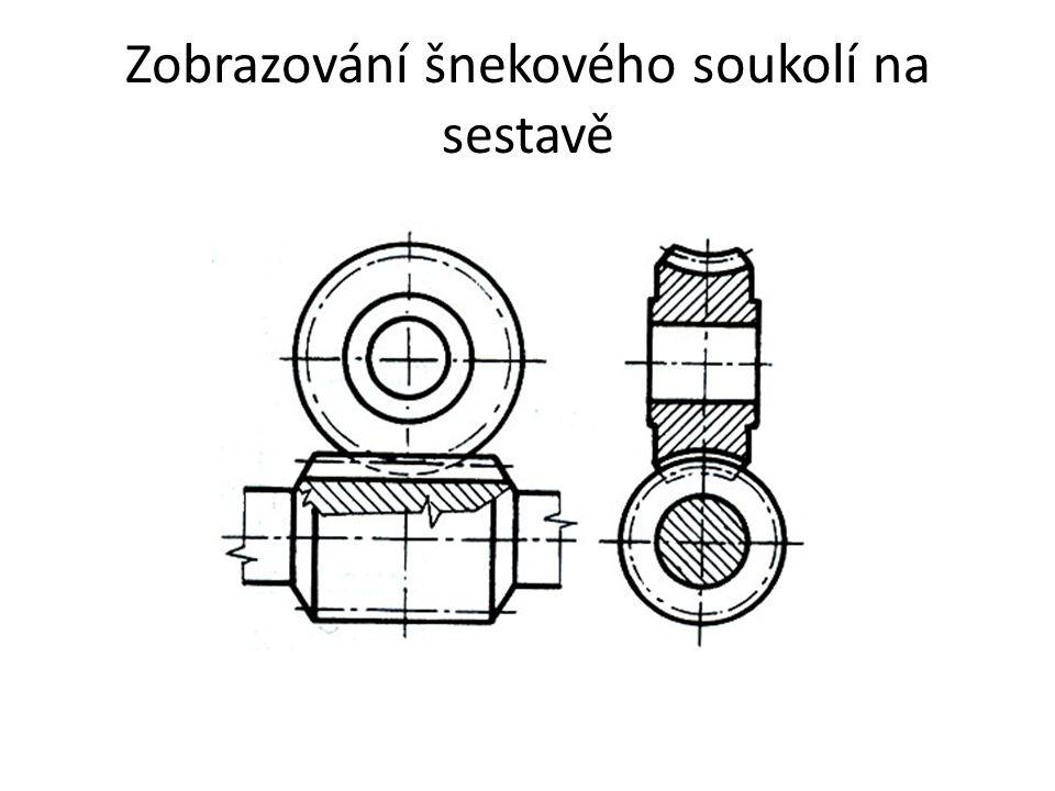 Zobrazování šnekového soukolí na sestavě