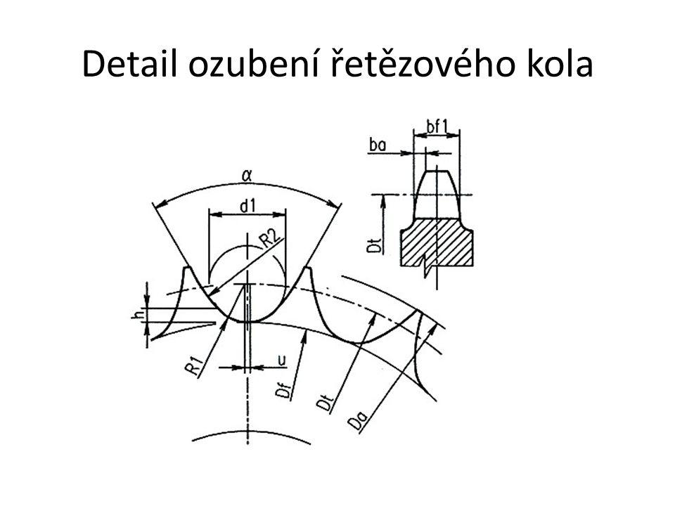 Detail ozubení řetězového kola