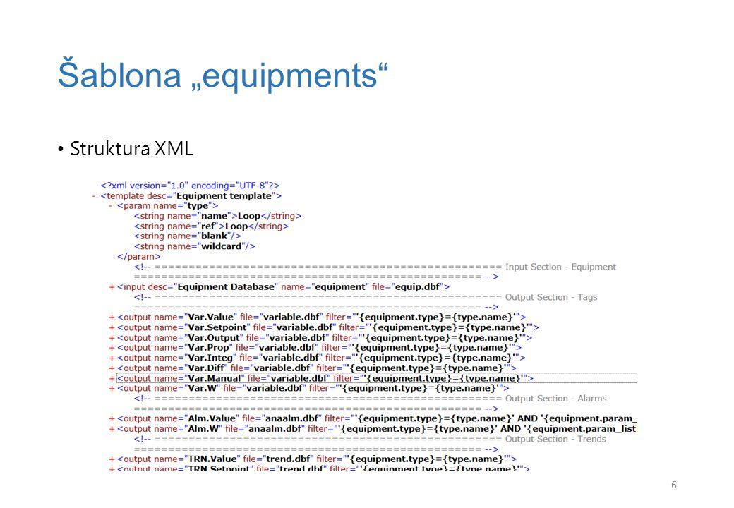 """XML Šablona """"equipments 7"""