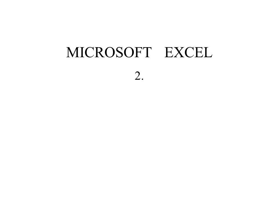 Microsoft Excel Základní operace Typy buněk Každá buňka může nést informace nezávisle na jiné buňce.
