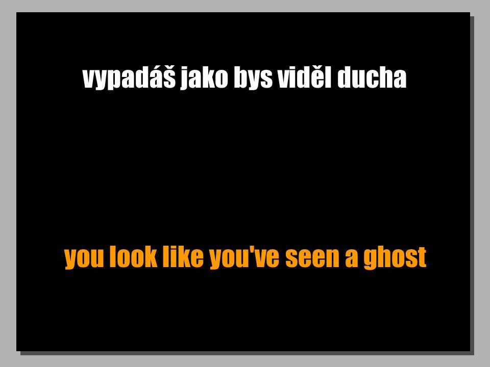 vypadáš jako bys viděl ducha you look like you ve seen a ghost