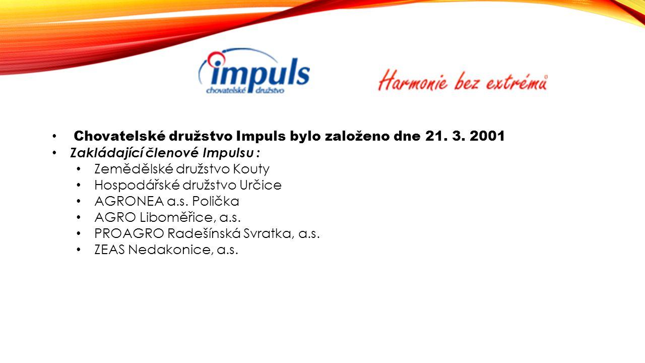 Chovatelské družstvo Impuls bylo založeno dne 21.3.