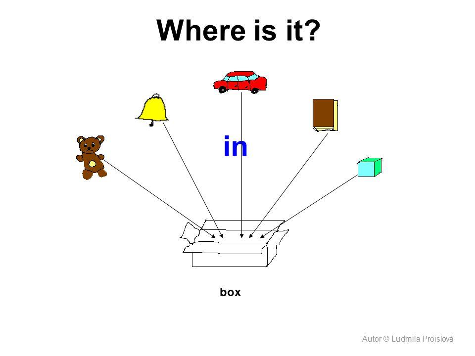 in box Where is it? Autor © Ludmila Proislová