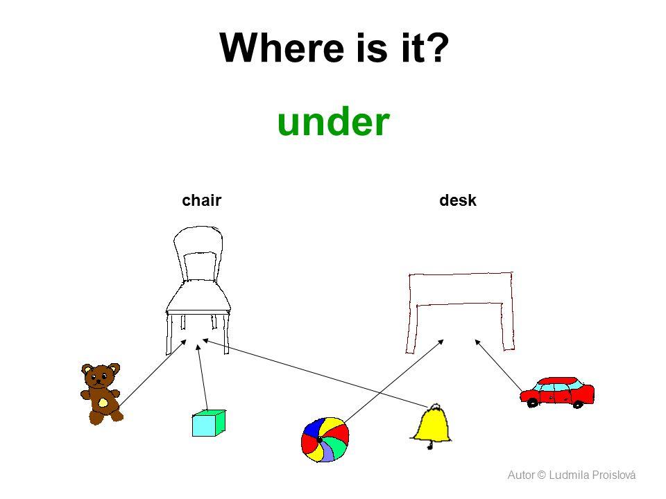 under chair Where is it? desk Autor © Ludmila Proislová