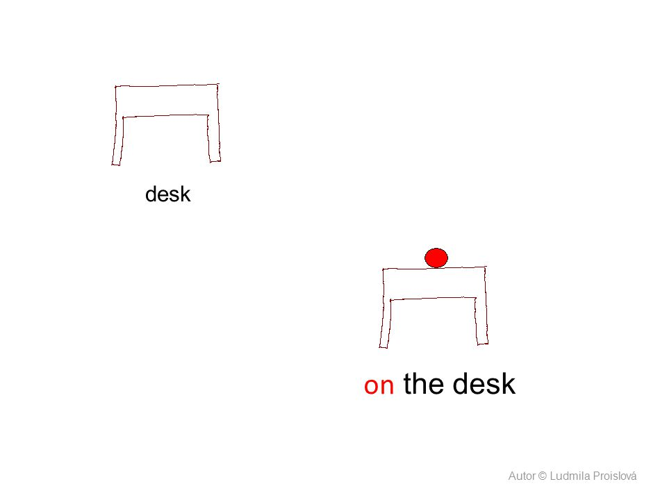 on the desk desk