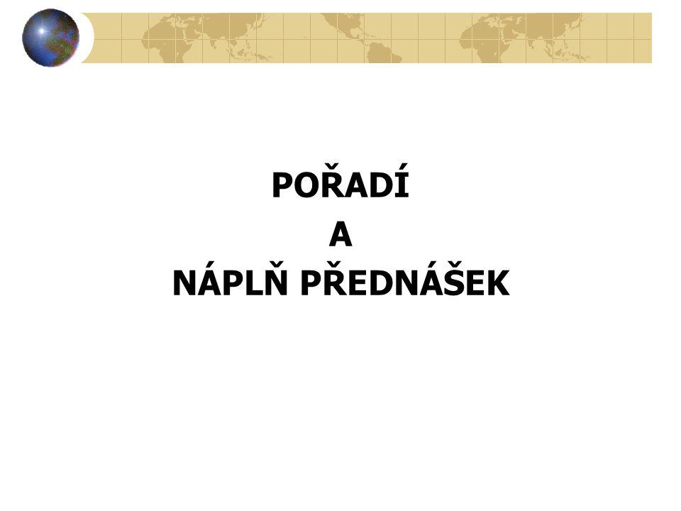 1.Úvodní přednáška 18.2.2014 přednášející - doc.