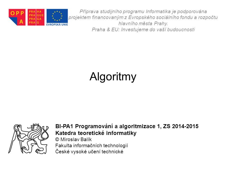 Ing.Miroslav Balík, Ph.D. - BI-PA1- 012 Kdo je kdo v PA1.