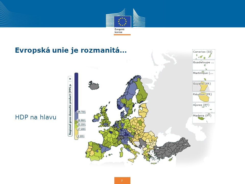 3 Evropská unie je rozmanitá… HDP na hlavu