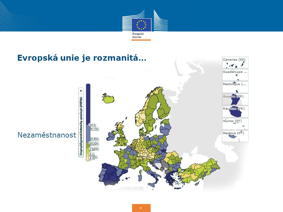 4 Evropská unie je rozmanitá… Nezaměstnanost