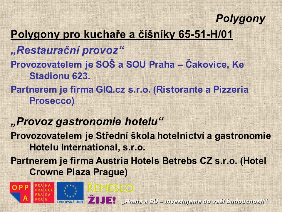 """Polygony Polygony pro kuchaře a číšníky 65-51-H/01 """"Restaurační provoz"""" Provozovatelem je SOŠ a SOU Praha – Čakovice, Ke Stadionu 623. Partnerem je fi"""