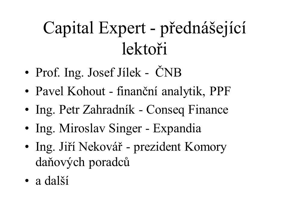 Capital Expert - přednášející lektoři Prof. Ing.