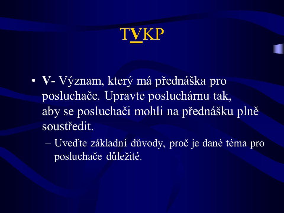 TVKP V- Význam, který má přednáška pro posluchače.