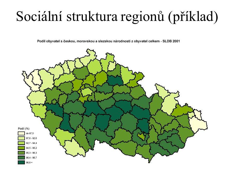 24 Sociální struktura regionů (příklad)