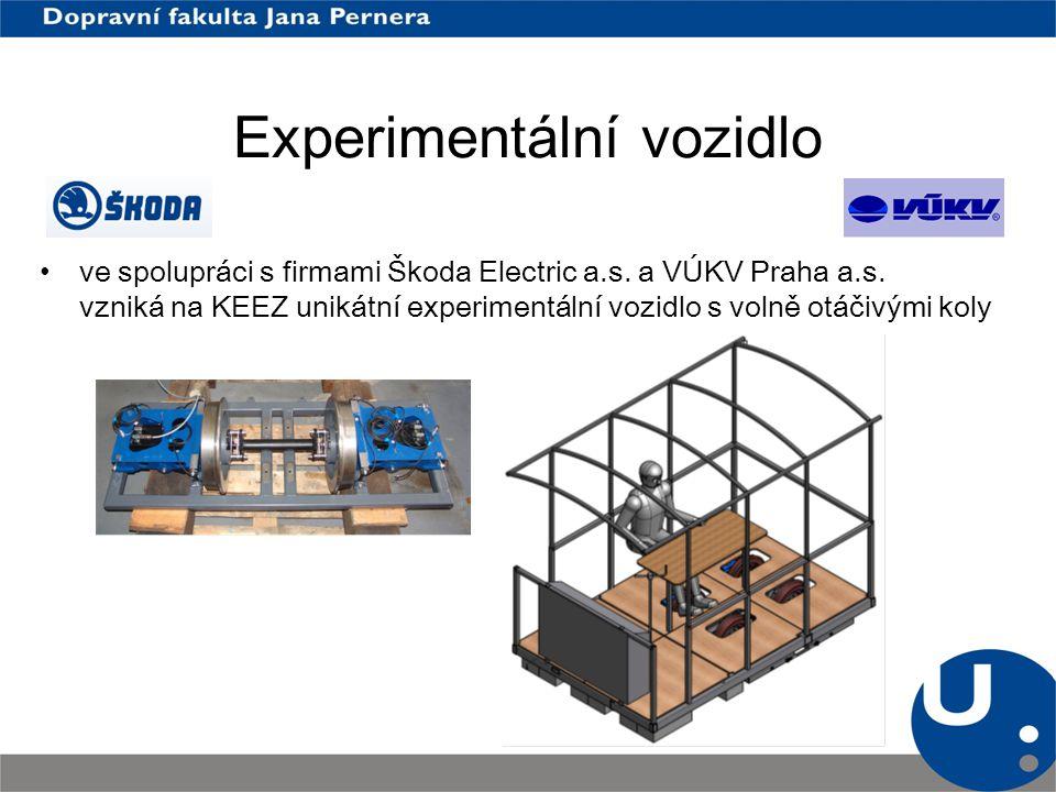 Experimentální vozidlo ve spolupráci s firmami Škoda Electric a.s. a VÚKV Praha a.s. vzniká na KEEZ unikátní experimentální vozidlo s volně otáčivými