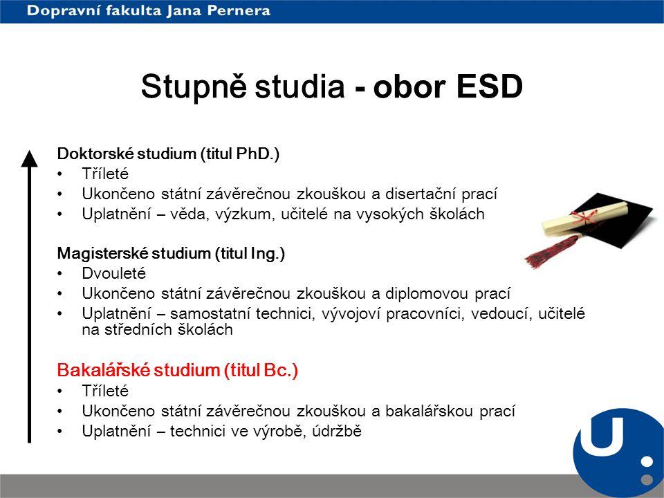 Charakteristika oboru Elektrotechnické a elektronické systémy v dopravě Studium poskytuje ucelený náhled na problematiku el.
