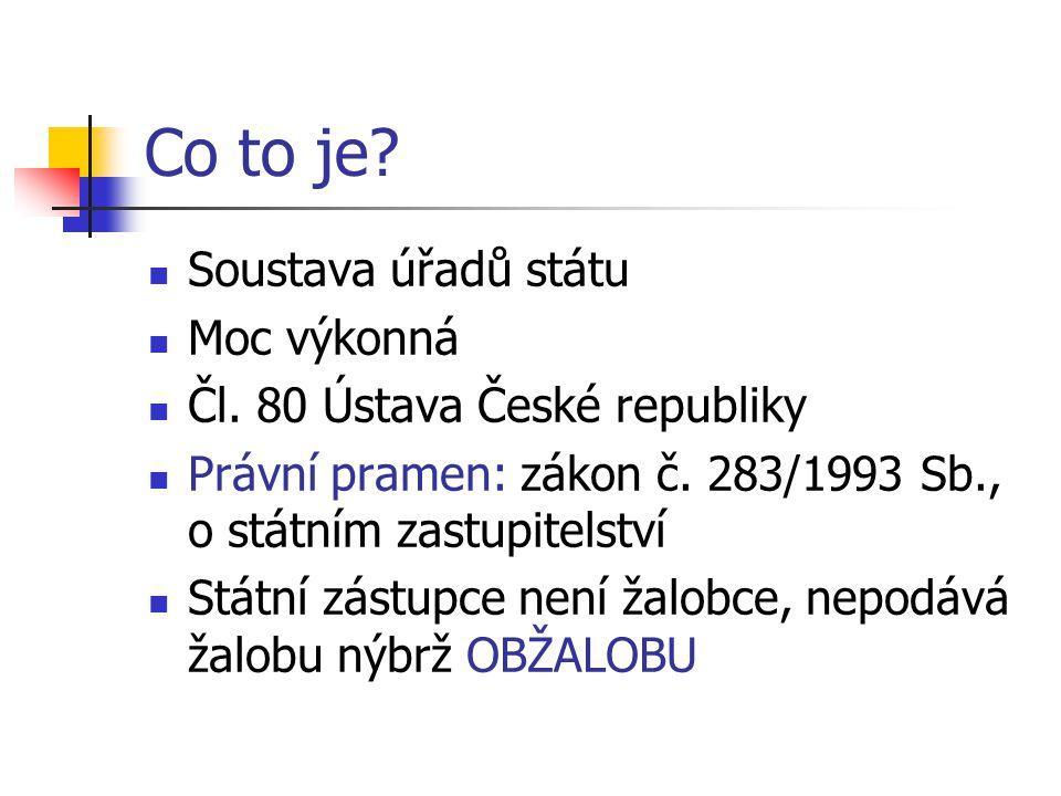 Co to je. Soustava úřadů státu Moc výkonná Čl. 80 Ústava České republiky Právní pramen: zákon č.