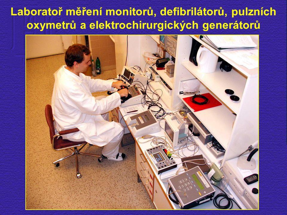 Laboratoř měření monitorů, defibrilátorů, pulzních oxymetrů a elektrochirurgických generátorů