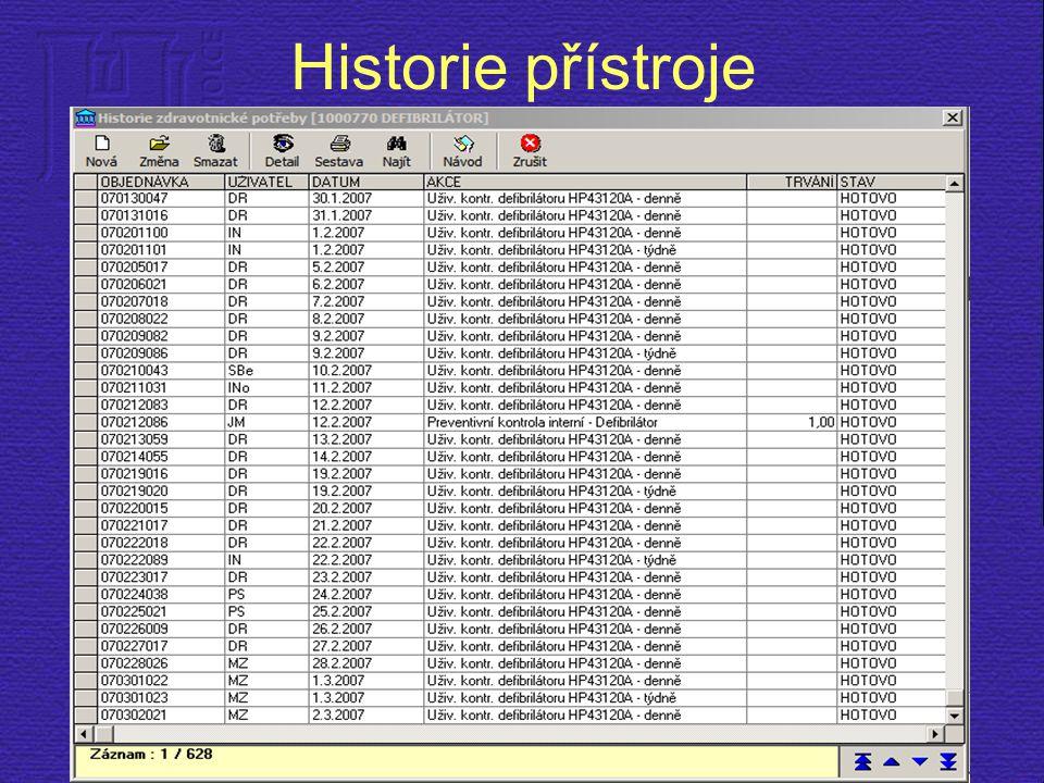 Historie přístroje